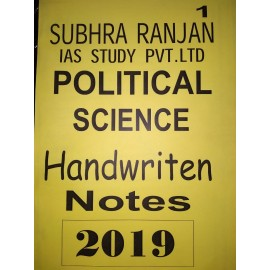 SUBHRA RANJAN -Political science handwritten notes (English) 2019