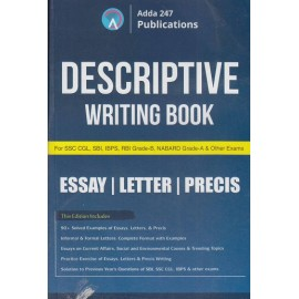 ADDA 247 PUBLICATIONS PVT LMT (  DESCRIPTIVE WRITING BOOK ESSAY / LETTER / PRECIS  SSC CGL , SBI, IBPS, RBI, GRADE -B, NABARD, GRADE - B., & OTHER EXAMS