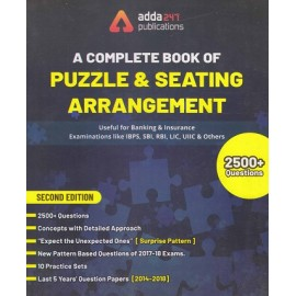 ADDA 247 PUBLICATIONS  ( A COMPLETE BOOK OF PUZZLE & SEATING ARRANGEMENT  FOR BANKING & INSURANCE EXAMINATIONS , 2500+ OUESTIONS -(SECOND EDITION( ENGLISH)