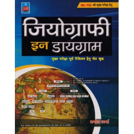 Alankrita Publication [Geography in Diagram for UPSC Mains Examination (Hindi) Paperback] by Pramod Sharma