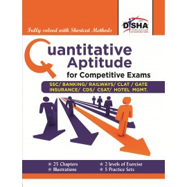 Disha Publication [Quantitative Aptitude for Competitive Exams (English), Paperback] by Deepak Agarwal & D. P. Gupta