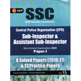 GKP - SSC CPO Paper - I 2018, 8 Solved Papers (2010-2017) & 13 Practice Papers (English, Paperback) by GKP