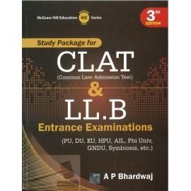 McGraw Hill Education - Study Package for CLAT & LLB Entrance Examinations (English, Paperback) by A P Bhardwaj