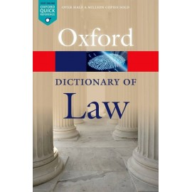 Oxford University Press [Oxford Dictionary of Law, Paperback] by Jonathan Law