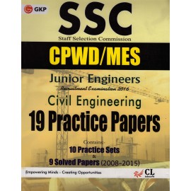GK Publication [SSC CPWD/CWC/MES] (English) 19 Practice Paper CL Educate