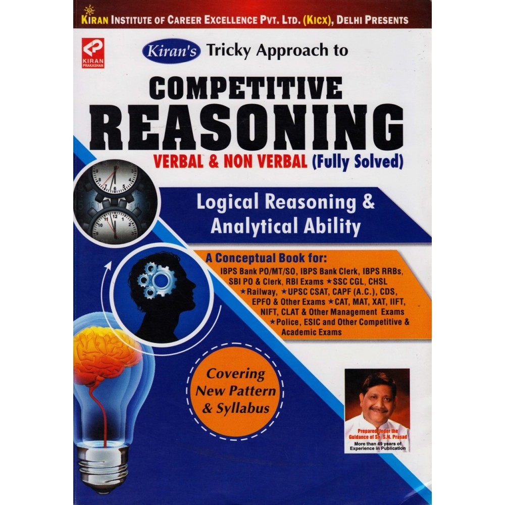Kiran Publication PVT LTD Tricky Approach to [Competitive Reasoning (Verbal and Non-Verbal Fully Solved)]